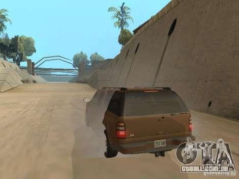 Chevrolet Suburban 2003 para GTA San Andreas vista traseira
