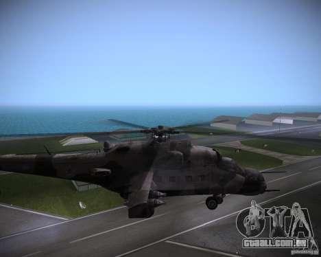 Mi-35 para GTA Vice City vista direita