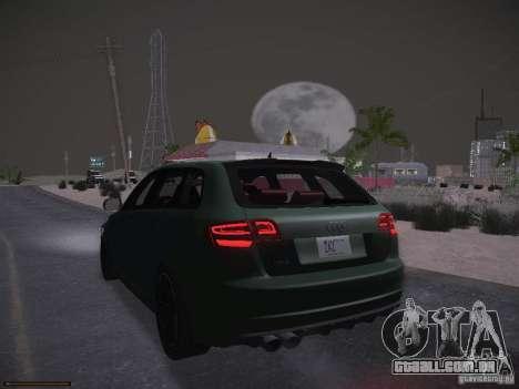 Audi RS3 2011 para GTA San Andreas vista superior