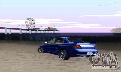 Mitsubishi Lancer Evolution 9 MR Edition para GTA San Andreas vista direita