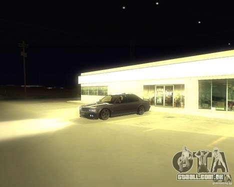 BMW 740i Update para GTA San Andreas vista direita