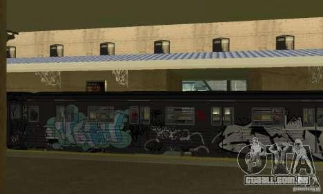 GTA IV Enterable Train para GTA San Andreas vista traseira