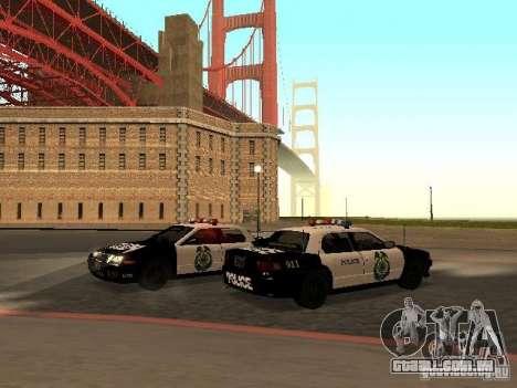 Police Civic Cruiser NFS MW para GTA San Andreas traseira esquerda vista