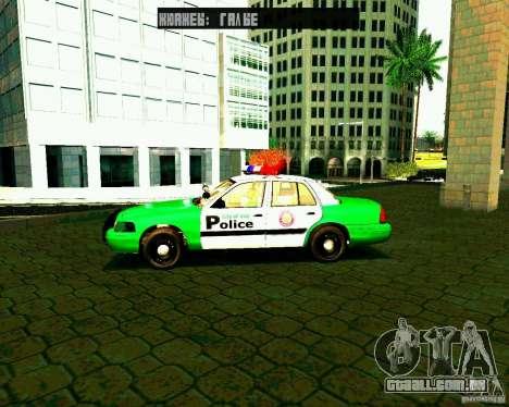 Ford Crown Victoria 2003 Police Interceptor VCPD para GTA San Andreas esquerda vista