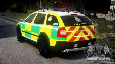 Skoda Octavia Scout Paramedic [ELS] para GTA 4 traseira esquerda vista