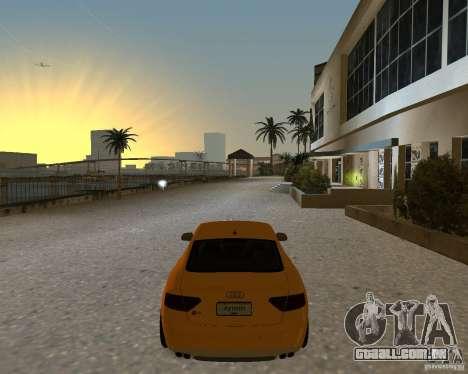 Audi S5 para GTA Vice City vista traseira esquerda