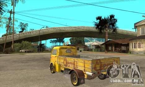 Tempo Matador 1952 Bus Barn version 1.1 para GTA San Andreas traseira esquerda vista
