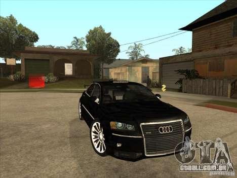 Audi A8 Tuned para GTA San Andreas vista traseira
