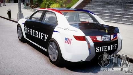 Carbon Motors E7 Concept Interceptor Sherif ELS para GTA 4 vista lateral