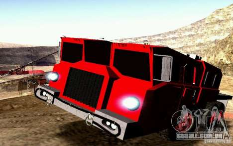 Maz-7310 Civil versão estreita para GTA San Andreas vista superior