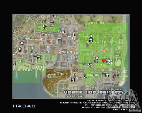 Novos ícones do mapa para GTA San Andreas
