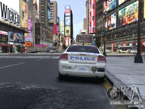 Dodge Charger NYPD para GTA 4 vista direita
