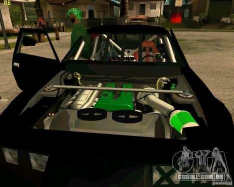 Hotring Racer Tuned para GTA San Andreas vista inferior
