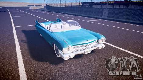 Cadillac Eldorado 1959 interior white para GTA 4 vista interior