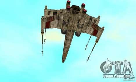 X-WING de Star Wars v1 para GTA San Andreas esquerda vista