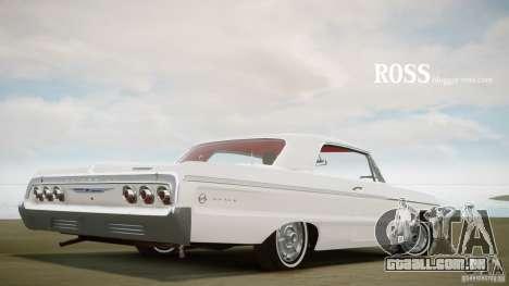 Chevrolet Impala SS 1964 para GTA 4 traseira esquerda vista