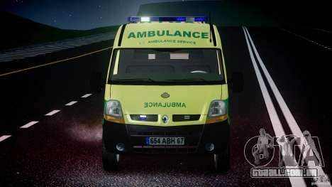 Renault Master 2007 Ambulance Scottish [ELS] para GTA 4 interior