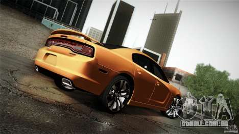 Dodge Charger SRT8 2012 para vista lateral GTA San Andreas