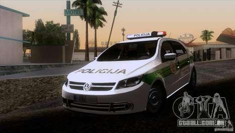 Volkswagen Voyage Policija para GTA San Andreas esquerda vista