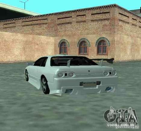 Nissan Skyline R32 GT-R para GTA San Andreas vista traseira