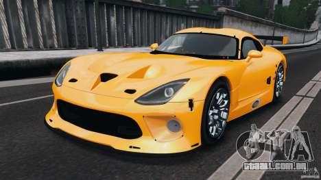 SRT Viper GTS-R 2012 v1.0 para GTA 4