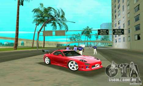 Mazda RX7 Charge-Speed para GTA Vice City vista superior
