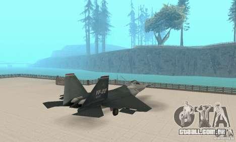Y-f22 Lightning para GTA San Andreas esquerda vista