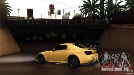 Honda S2000 JDM para GTA San Andreas vista traseira