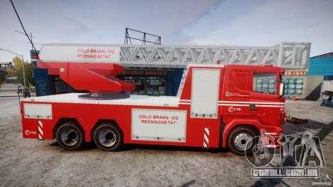 Scania Fire Ladder v1.1 Emerglights red [ELS] para GTA 4 vista de volta