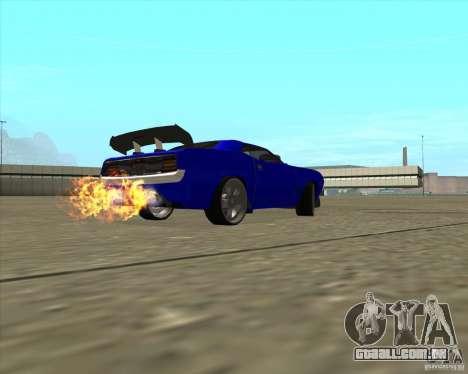 Plymouth Hemi Cuda de NFS Carbon para GTA San Andreas vista interior