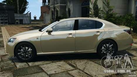Lexus GS350 2013 v1.0 para GTA 4 esquerda vista