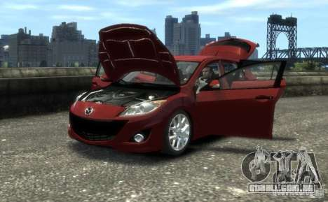 Mazda Speed 3 2010 para GTA 4 vista direita