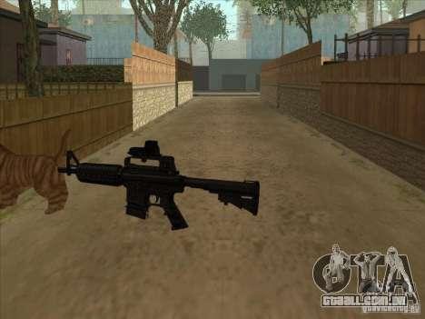 Gato silenciador na M4 em vez disso para GTA San Andreas terceira tela