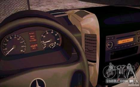 Mercedes Benz Sprinter 311 CDi para GTA San Andreas vista traseira