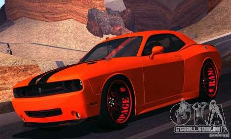 Dodge Quinton Rampage Jackson Challenger SRT8 v1 para GTA San Andreas esquerda vista