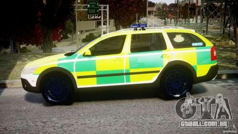 Skoda Octavia Scout Paramedic [ELS] para GTA 4 esquerda vista