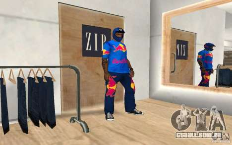Red Bull Clothes v2.0 para GTA San Andreas