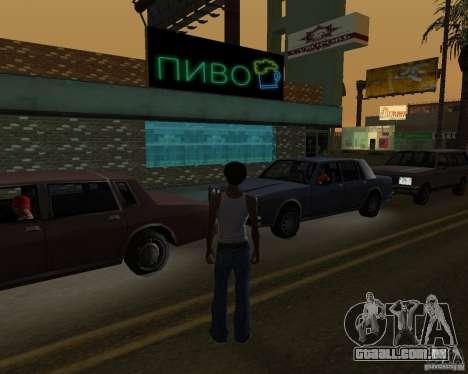 Russian shop para GTA San Andreas terceira tela