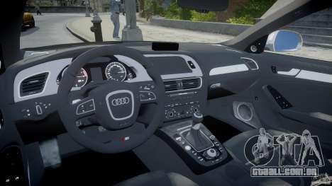 Audi S4 Unmarked [ELS] para GTA 4 vista direita