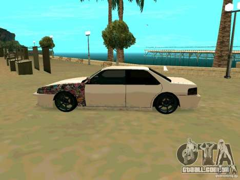 New Sultan v1.0 para GTA San Andreas vista traseira