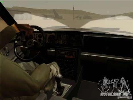 Lancia Integrale Evo para GTA San Andreas vista interior