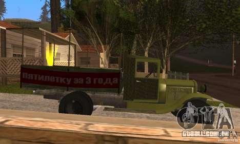 ZiS-5 para GTA San Andreas traseira esquerda vista