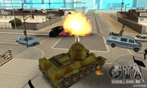 Tanque T-34/76 para GTA San Andreas vista direita