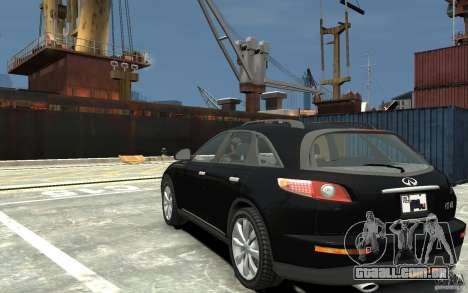 Infiniti FX45 para GTA 4 traseira esquerda vista