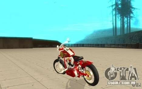 Orange County Chopper Sunshine para GTA San Andreas traseira esquerda vista