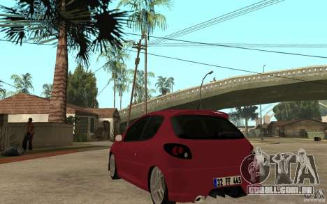 Peugeot 206 GTI CebeL Tuning para GTA San Andreas traseira esquerda vista