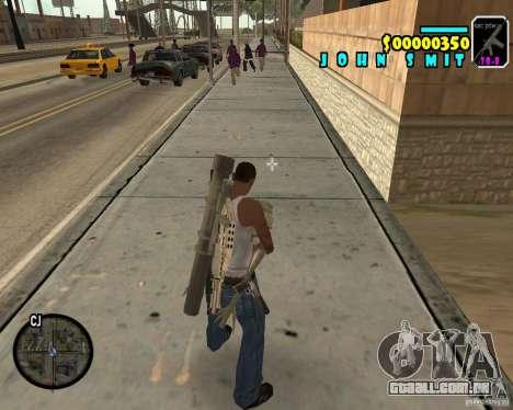 HUD Adidas para GTA San Andreas terceira tela