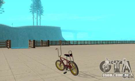 CUSTOM BIKES BIKE para GTA San Andreas traseira esquerda vista