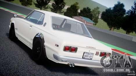 Nissan Skyline 2000 GT-R para GTA 4 interior
