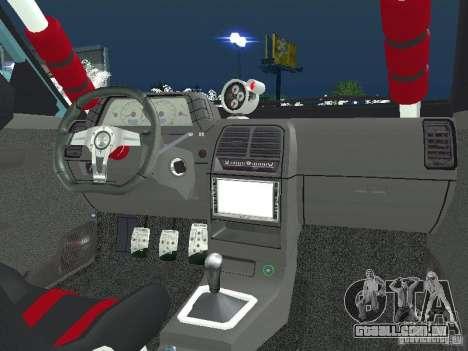 VAZ 2110 ADT Tuning para GTA San Andreas traseira esquerda vista
